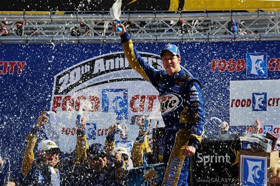 2012 Bristol March NSCS Race Victory Lane Brad Keselowski
