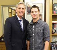 Ryan Reed and Congressman Kevin McCarthy