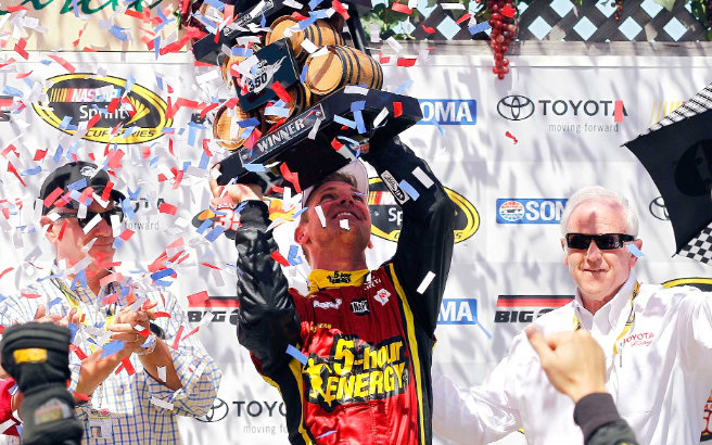 2012 Clint Bowyer wins Sonoma