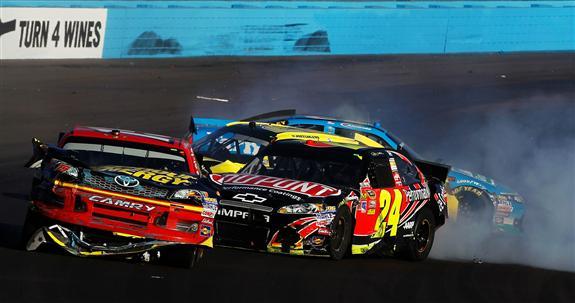 2012 Phoenix2 Jeff Gordon Clint Bowyer Incident Tom Pennington Getty Images for NASCAR