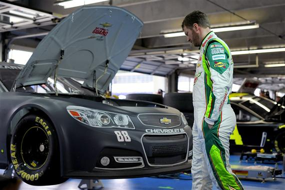2012 CMS Testing Dale Earnhardt Jr In Garage
