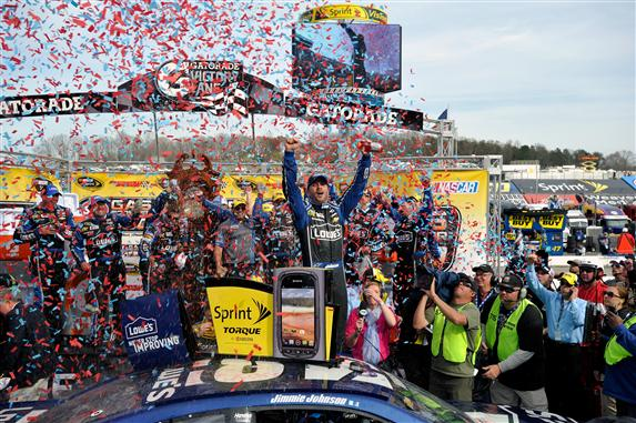 jimmie-johnson-victory-lane-martinvsille-nascar-april-2013