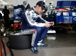 2013-Vegas-March-Brad-Keselowski-In-Garage