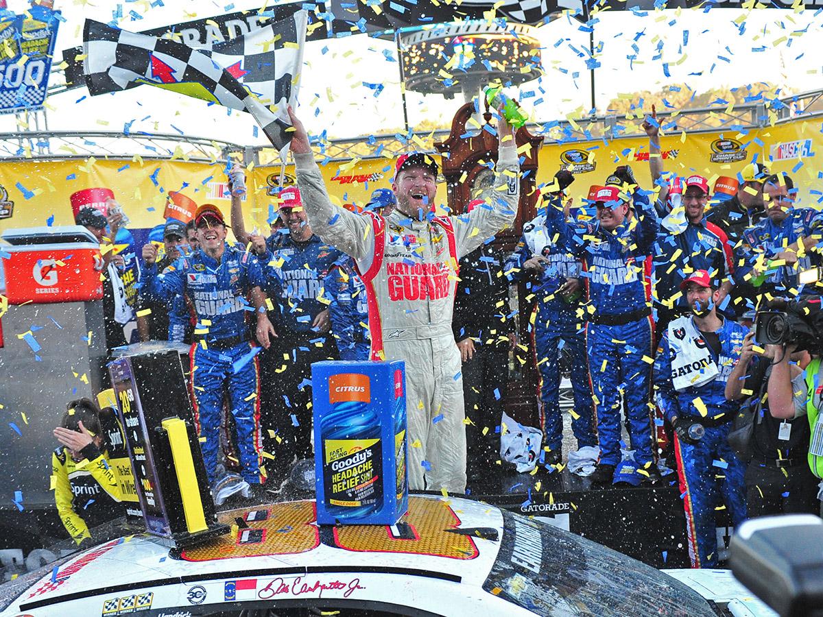 Dale Earnhardt Jr. Wins Martinsville