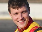Reid Wilson, driver of the No. 66 Young's Motorsports / MDA Summer Camp Chevrolet for Young's Motorsports in the NASCAR K&N Pro Series East (NKNPSE).
