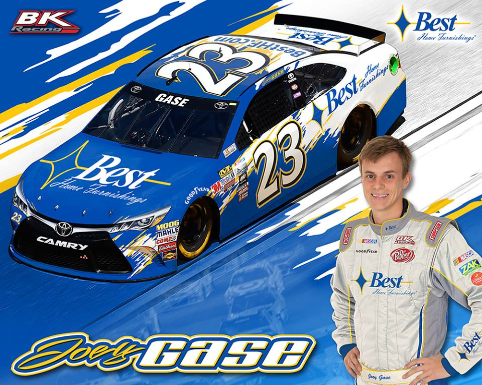 Joey Gase Joins BK Racing for Multiple Cup Races in 2017